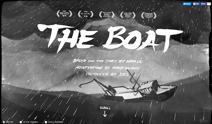 The Boat - Use of Parallax Design