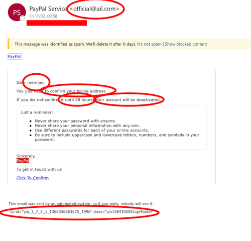 Email Scam Example Answers